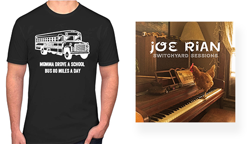 joe rian tshirt and cd